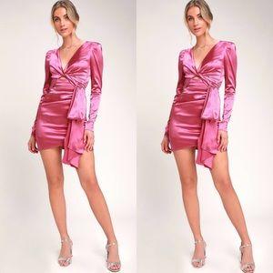 Dresses & Skirts - NWT $100 Satin Ruched Wrap Sexy Mini Dress
